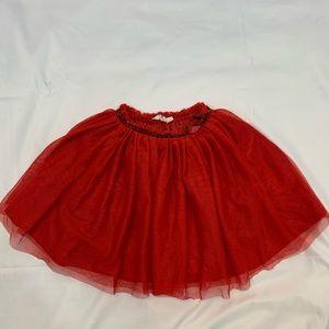 Girls tutu like skirt in red
